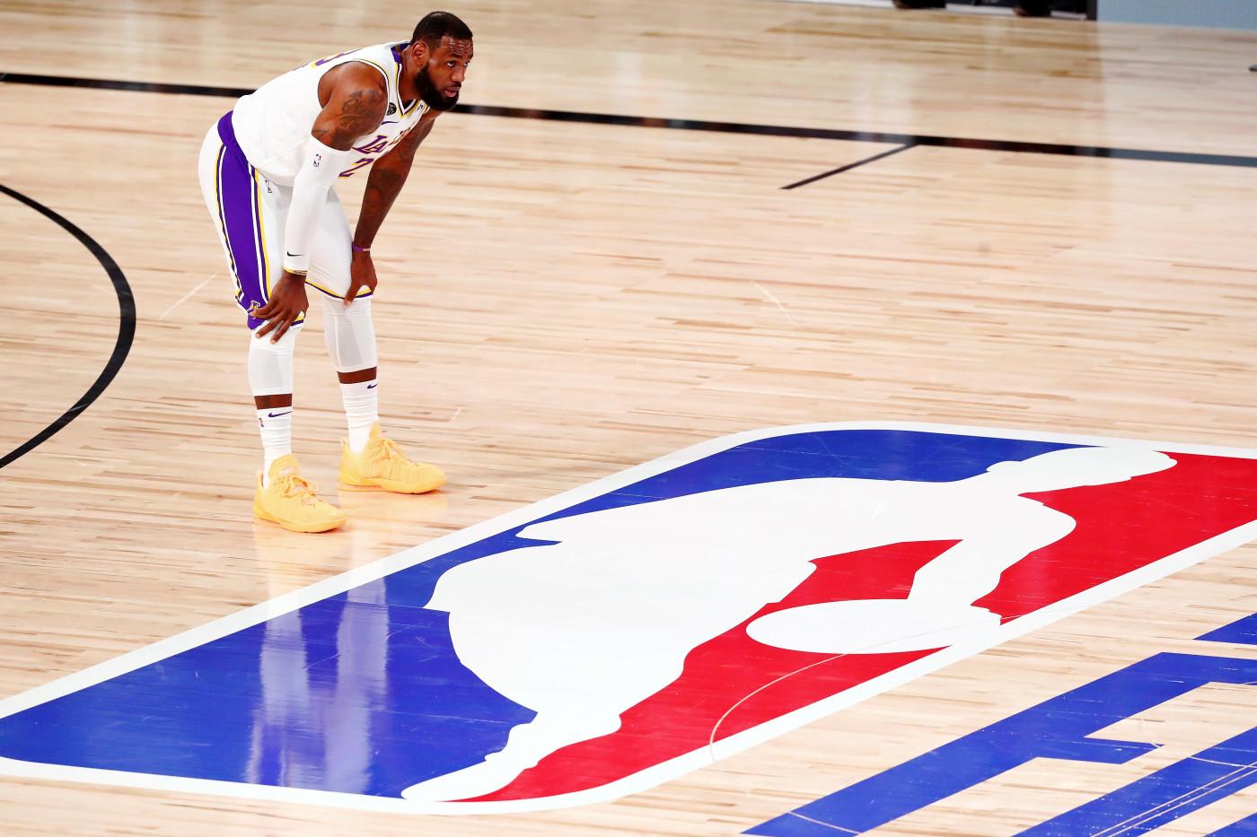 LeBron James Logo NBA Finals Game 6 2020
