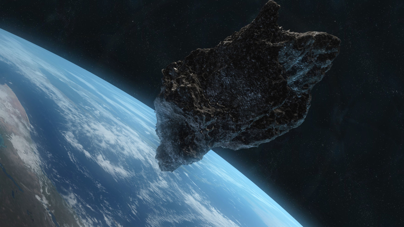 Asteroid approaching Earth.