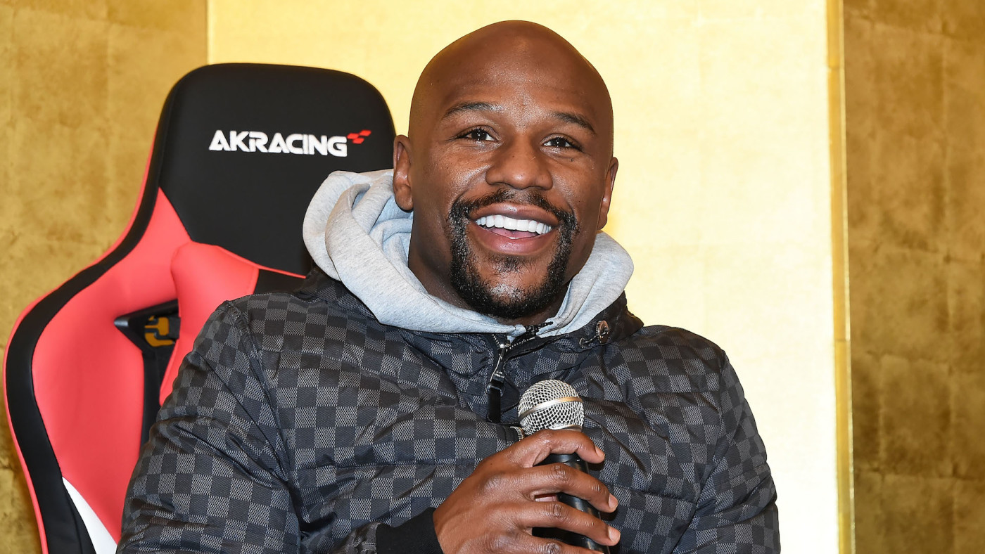 Floyd Mayweather attends the press conference for the Rizin Fighting Federation