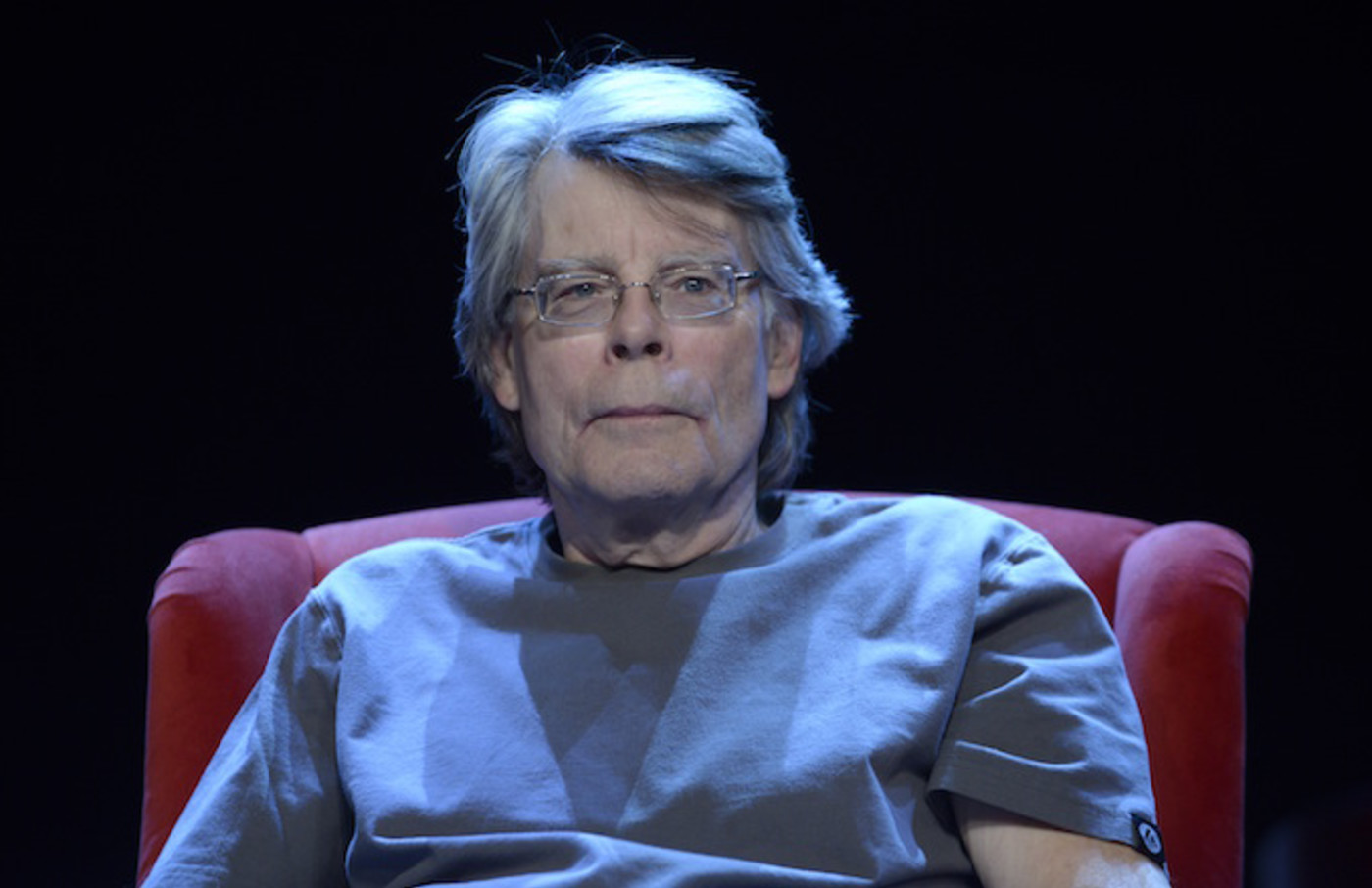 Stephen King poses during a portrait session in Paris, France.