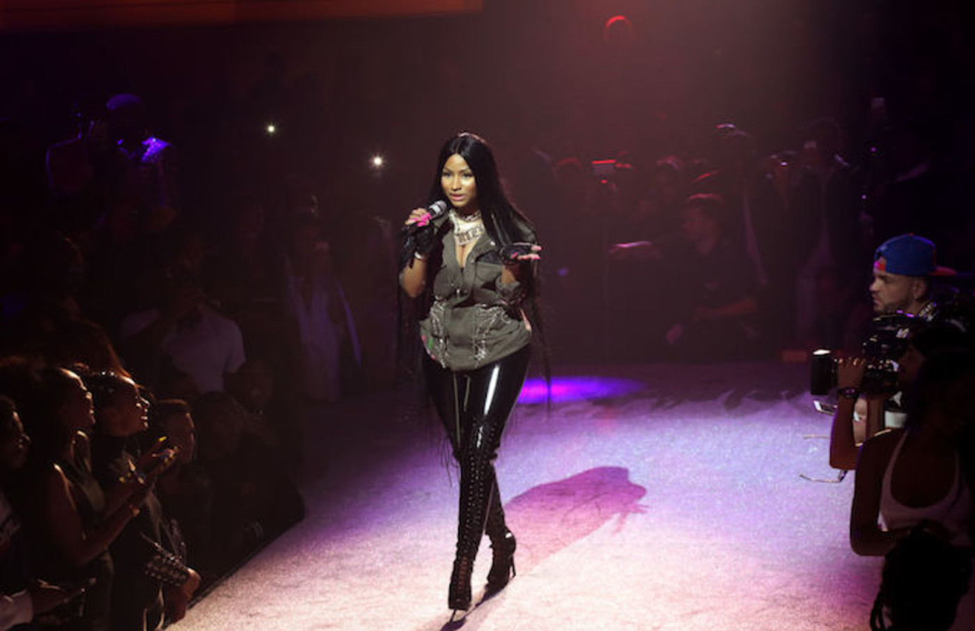 Nicki Minaj performing in 2017.