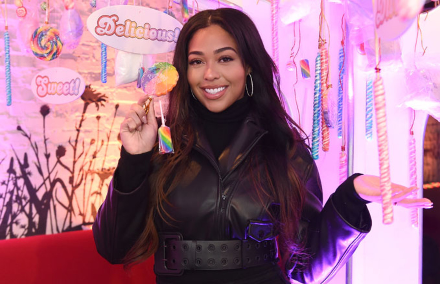 Jordyn Woods at a 'Candy Crush' event for Valentine's Day