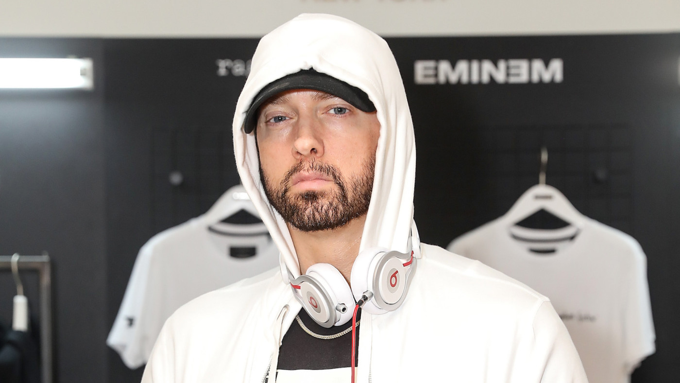 Eminem attends the rag & bone X Eminem London Pop-Up Opening