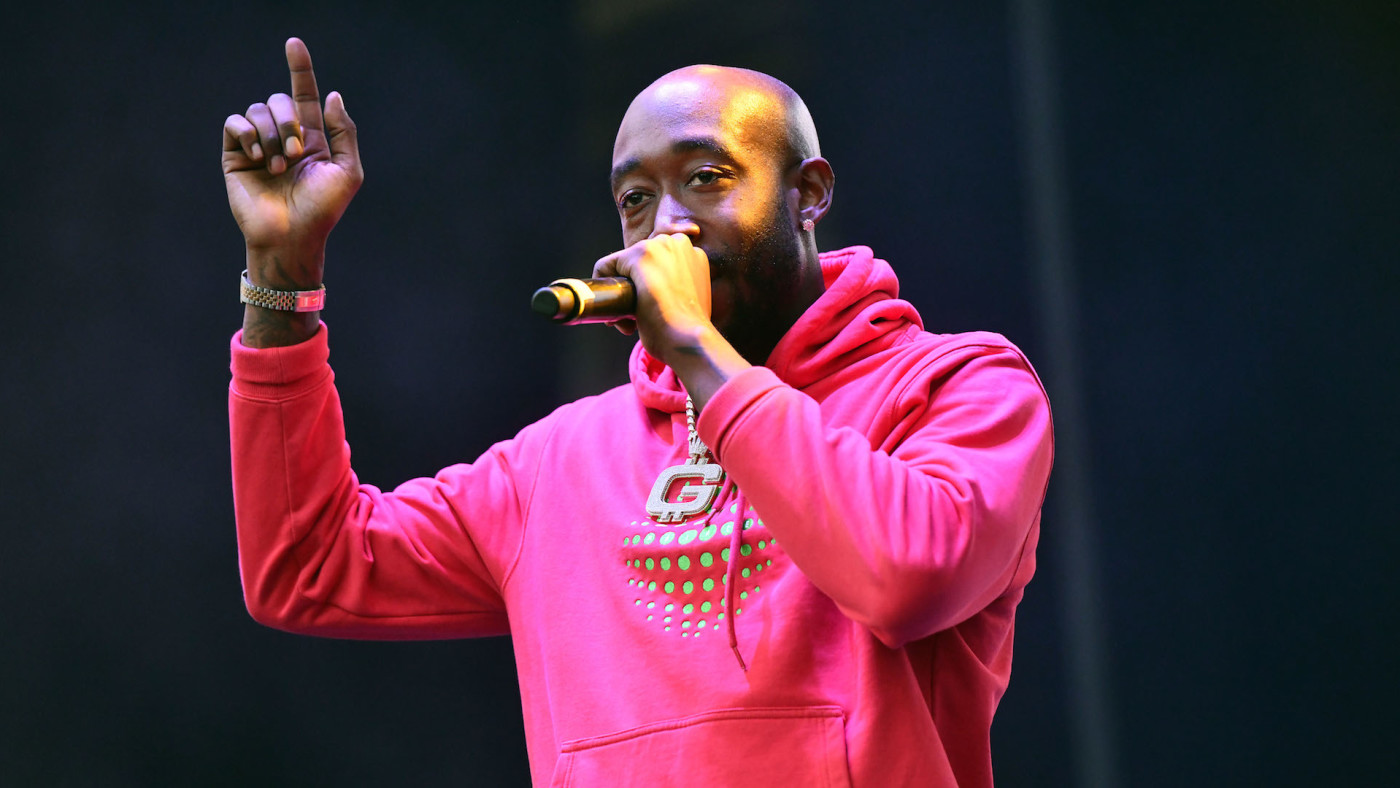 Rapper Freddie Gibbs performs onstage during the Adult Swim Festival