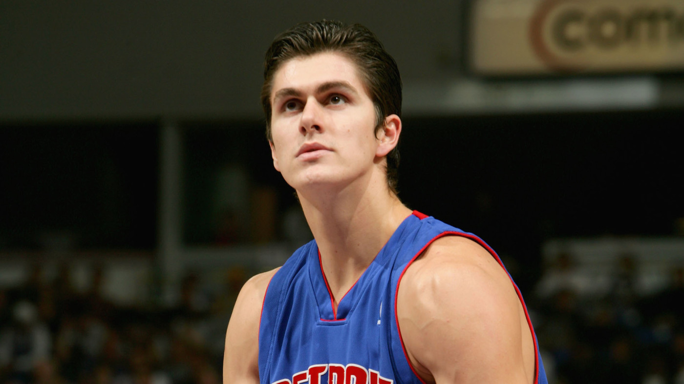 Darko Milicic #31 of the Detroit Pistons