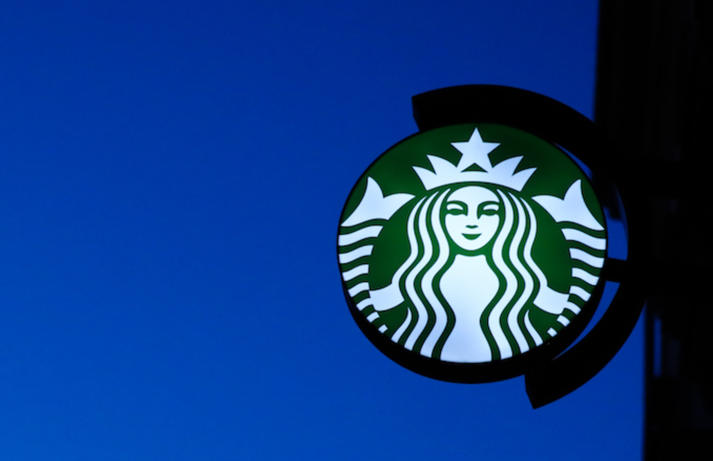 Starbucks Coffee logo is seen in Krakow , Poland.