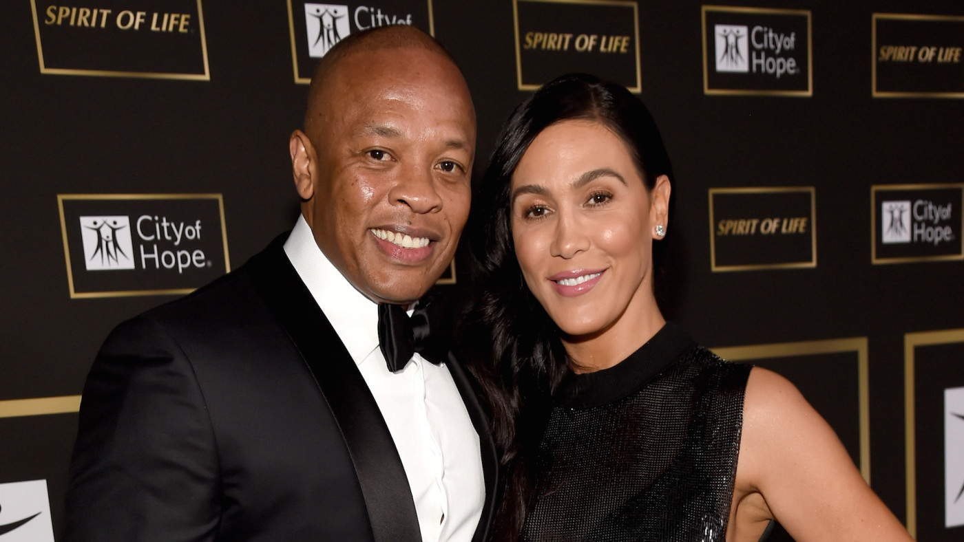 Dr. Dre (L) and Nicole Young attend the City of Hope Spirit of Life Gala