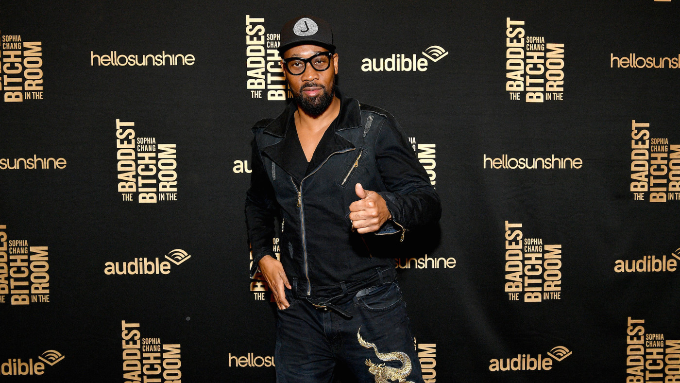 RZA attends The Launch Of Sophia Chang's Audio Memoir