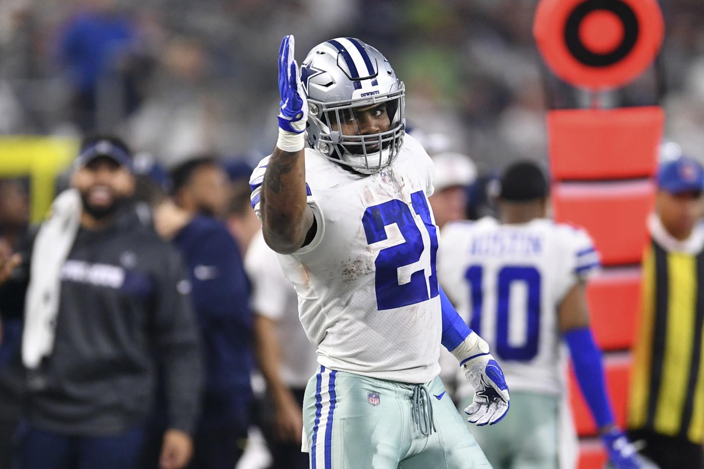 Ezekiel Elliott Cowboys Seahawks First Down Playoffs 2019