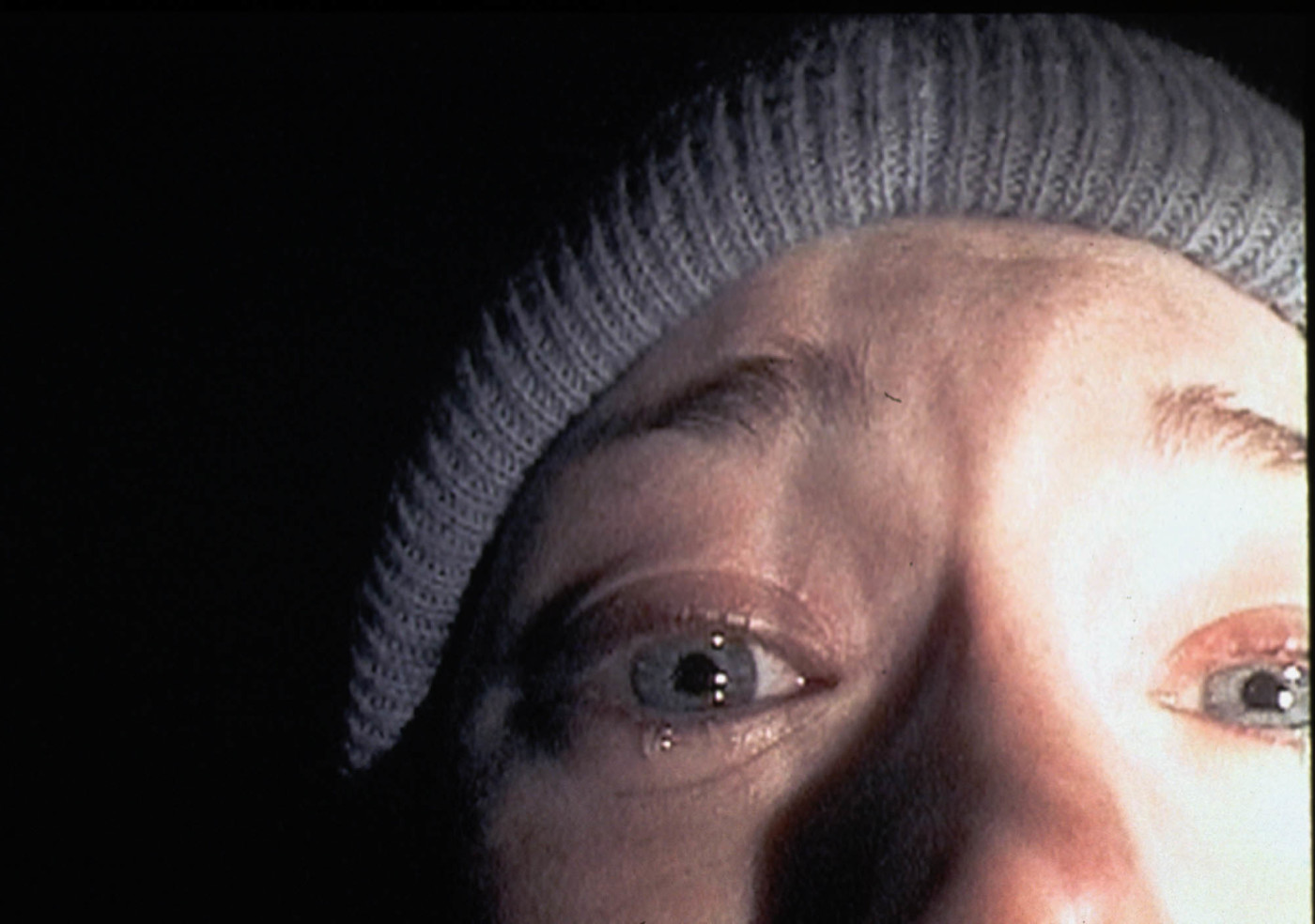 Heather Donahue turns the camera on herself during 'The Blair Witch Project'