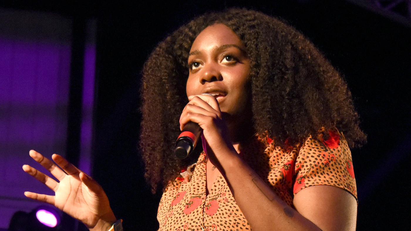 NoName performs during the 2018 Hangout Festival