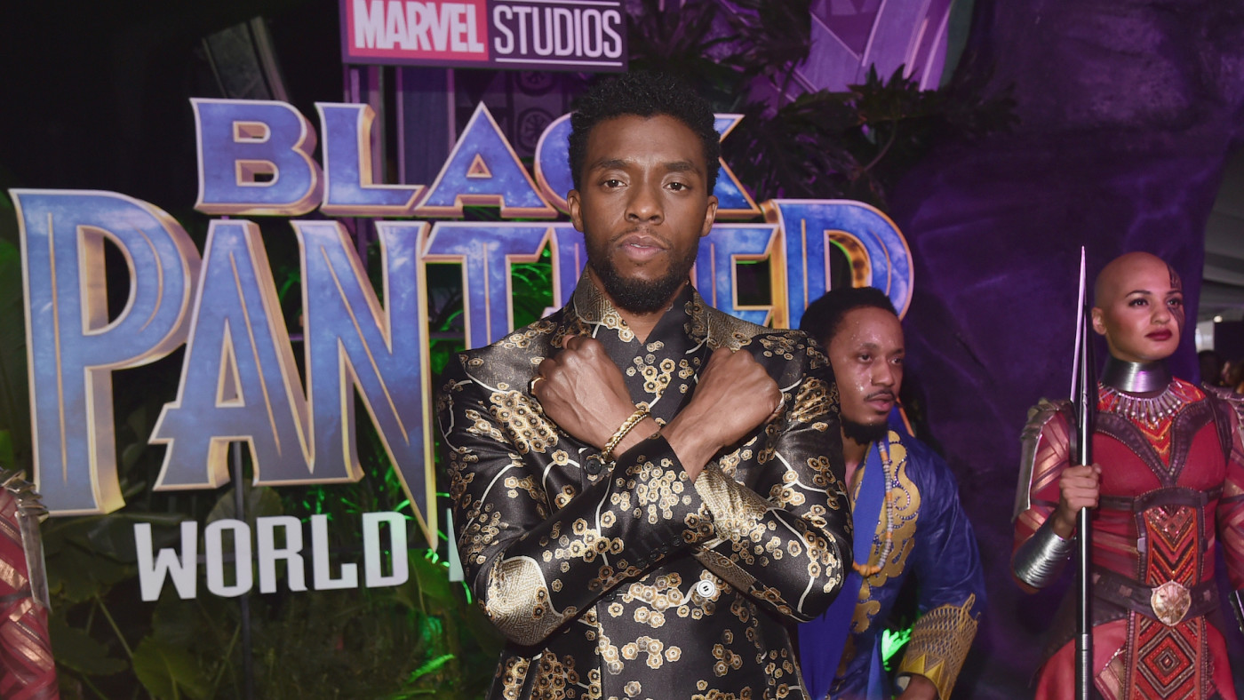 Chadwick Boseman at the World Premiere of Marvel Studios' BLACK PANTHER.