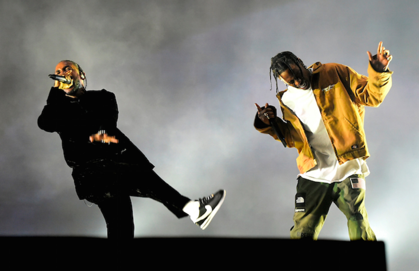 Kendrick Lamar and Travis Scott