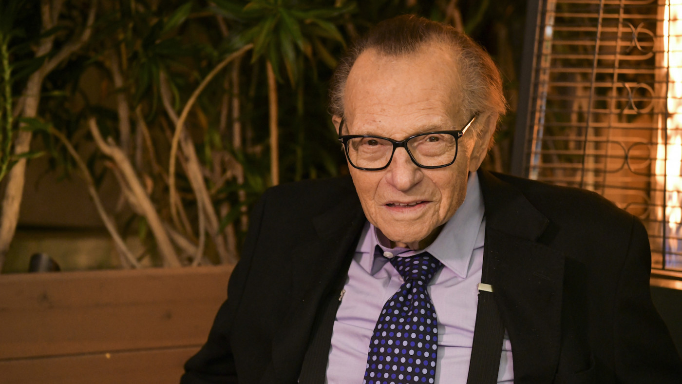 Larry King poses for portrait as the Friars Club
