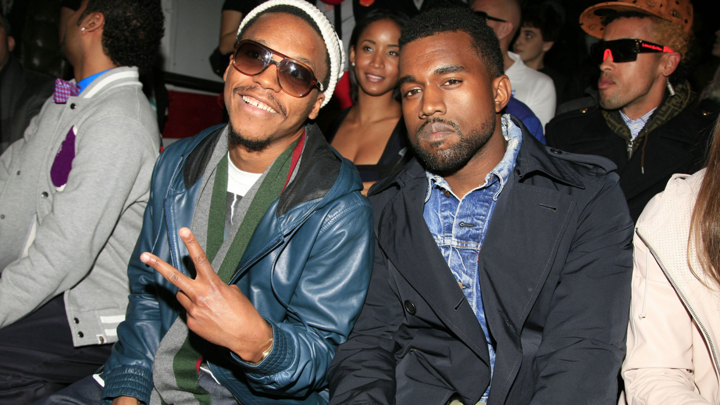 Lupe Fiasco and Kanye West attend Y-3 Fall 2009 Collection at Pier 40.