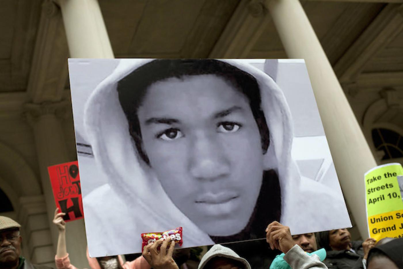 Sign at Trayvon Martin rally