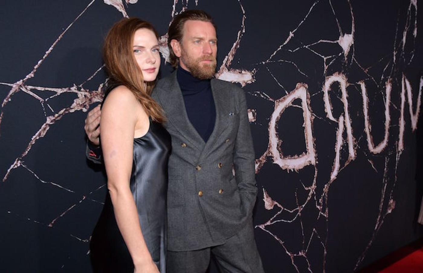"Rebecca Ferguson and Ewan McGregor attend the premiere of ""Doctor Sleep."""