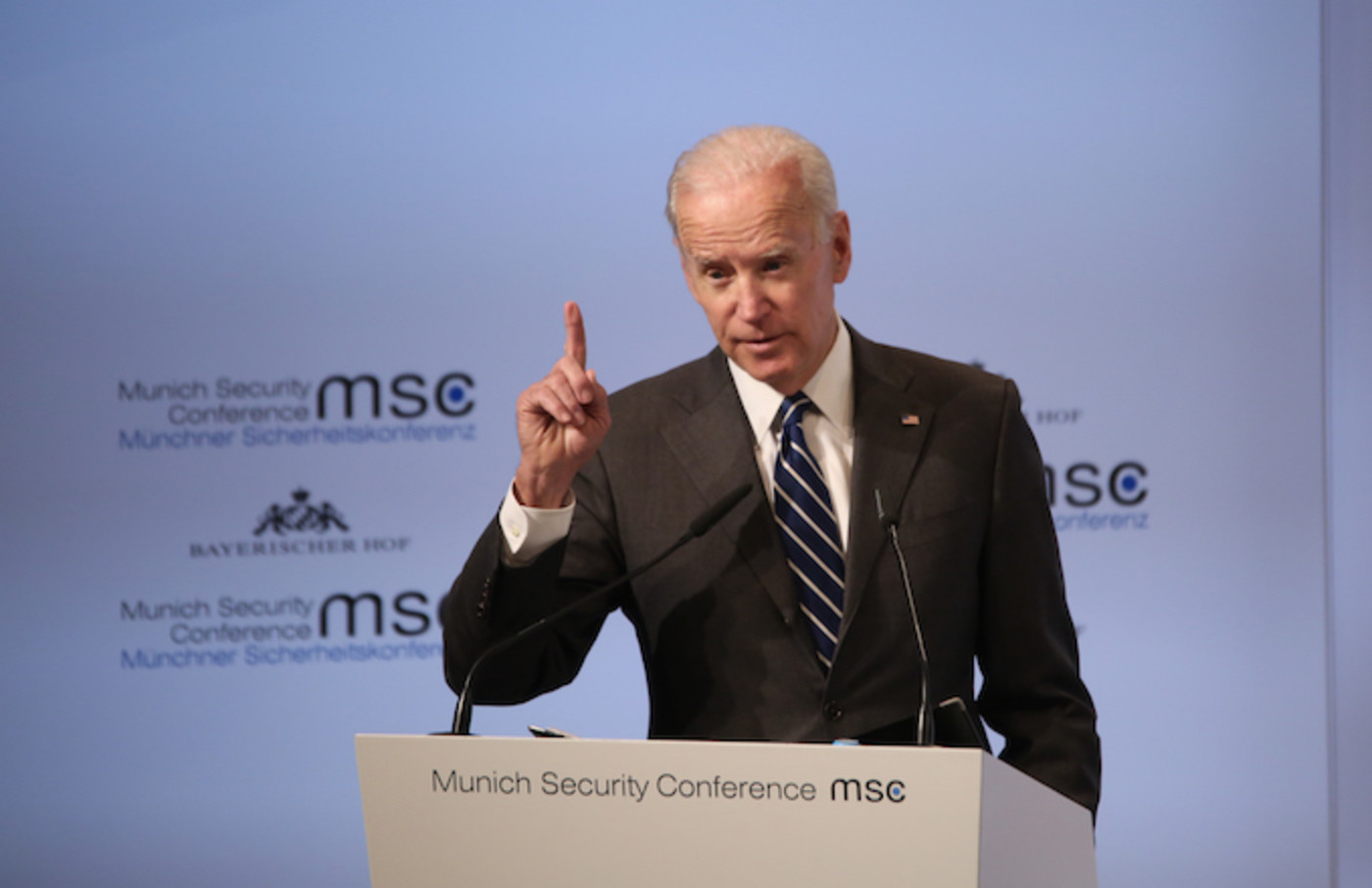 Joe Biden spoke at the Munich Security Conference