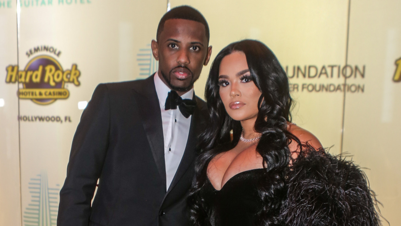 Fabolous and Emily B arrive at the Shawn Carter Foundation Gala.