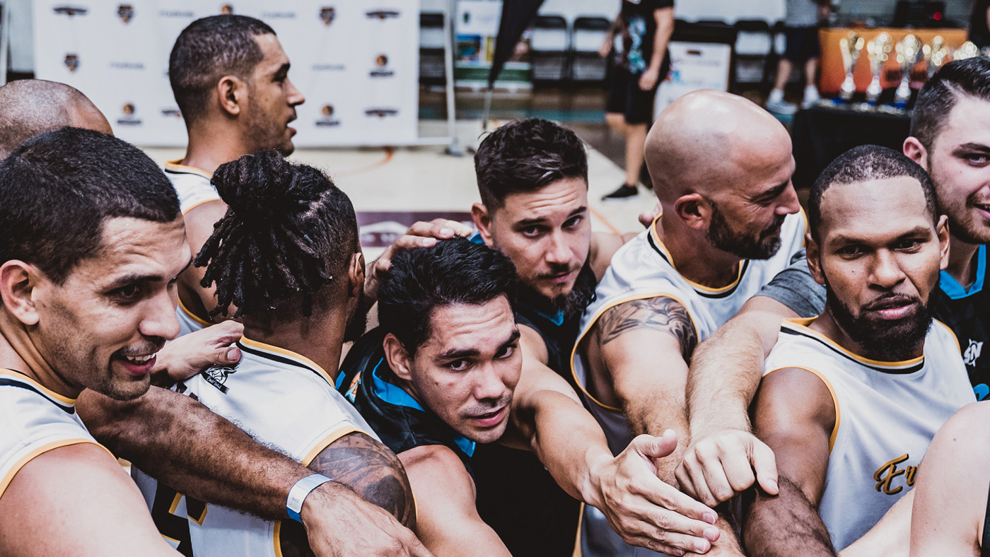 Players gathered at the Australian Indigenous Basketball Tournament