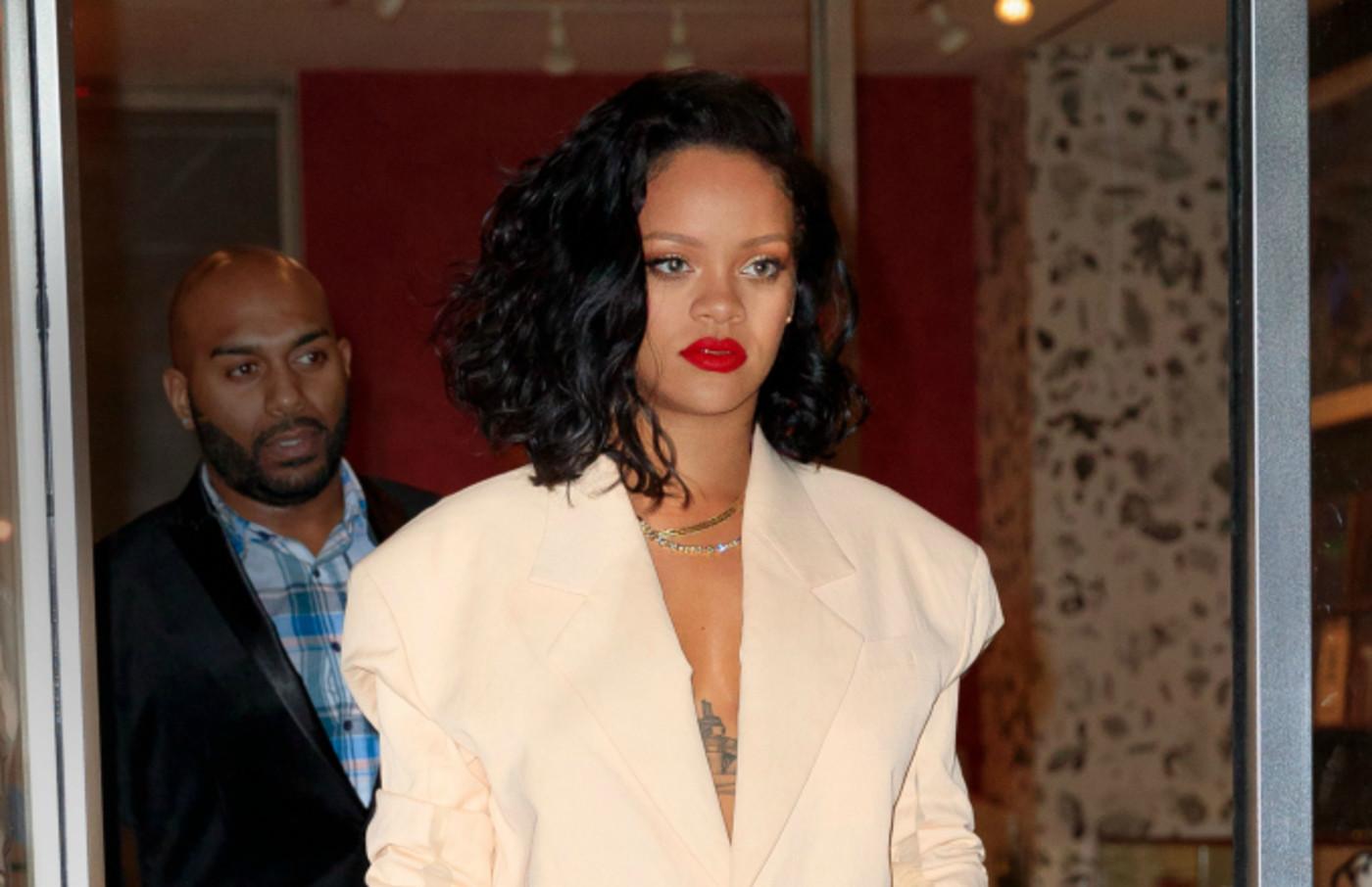 Rihanna goes to dinner at Kappo Masa