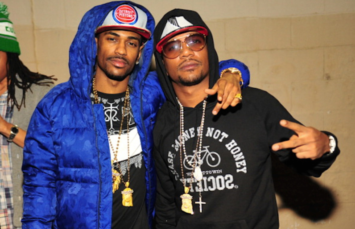 Big Sean and Cyhi the Prynce attend the after party at the Velvet Room