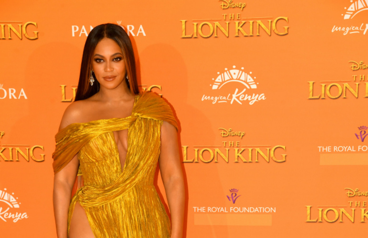 "Beyonce Knowles-Carter attends ""The Lion King"" European Premiere"