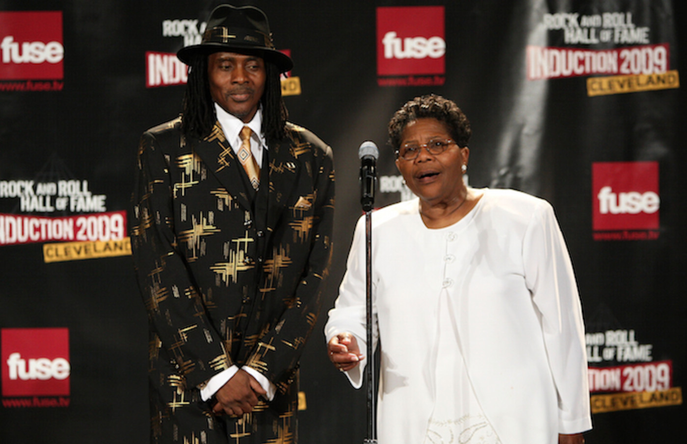 Marvin Thompson and mother