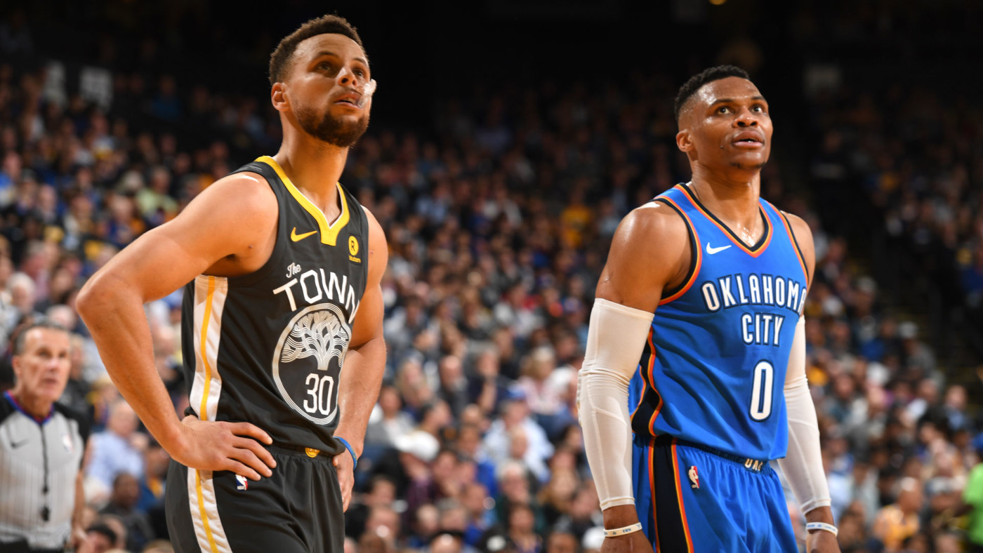 Stephen Curry and Russell Westbrook