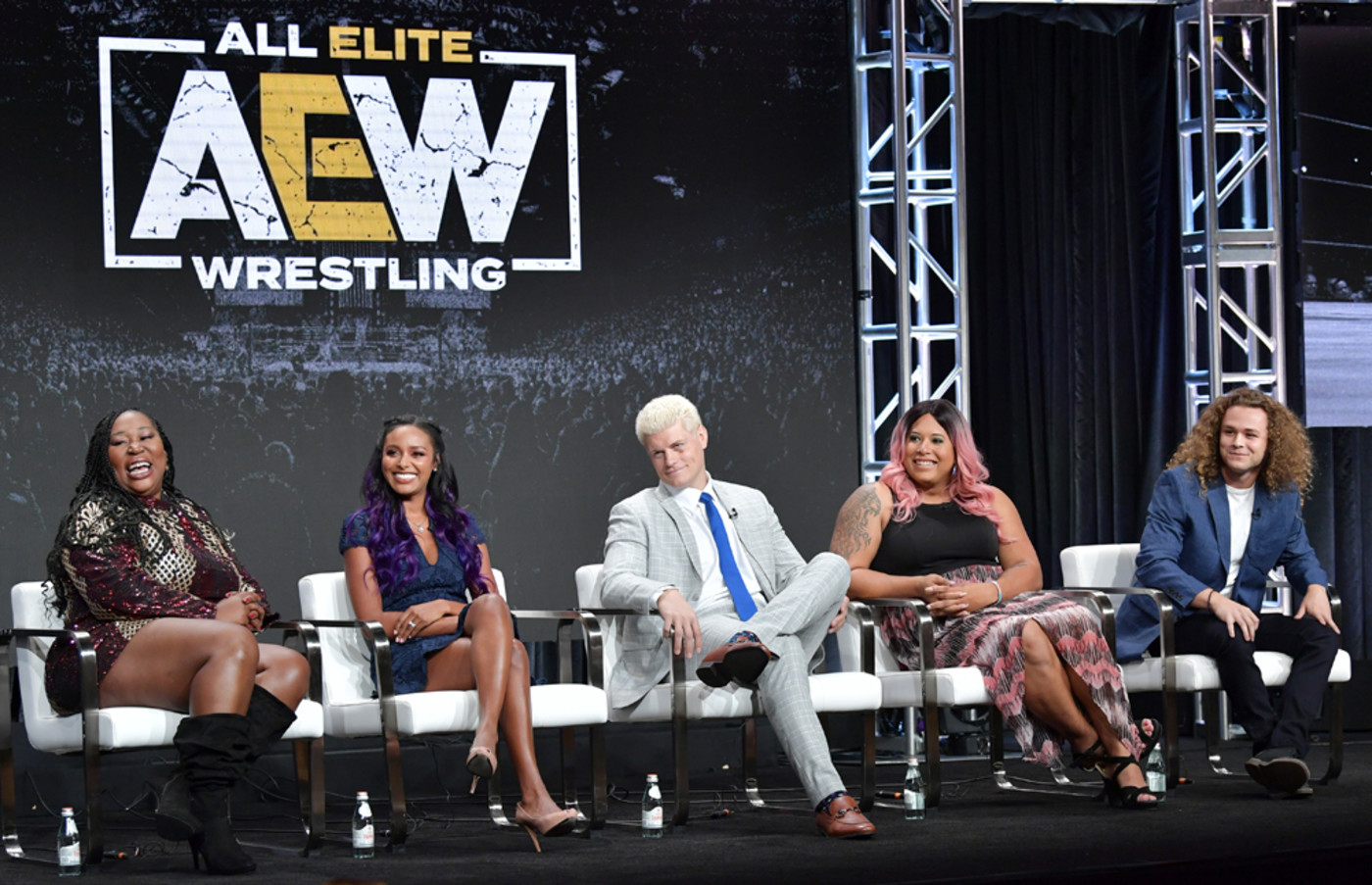Awesome Kong, Brandi Rhodes, Cody Rhodes, Nyla Rose and Jungle Boy at 2019 TCAs