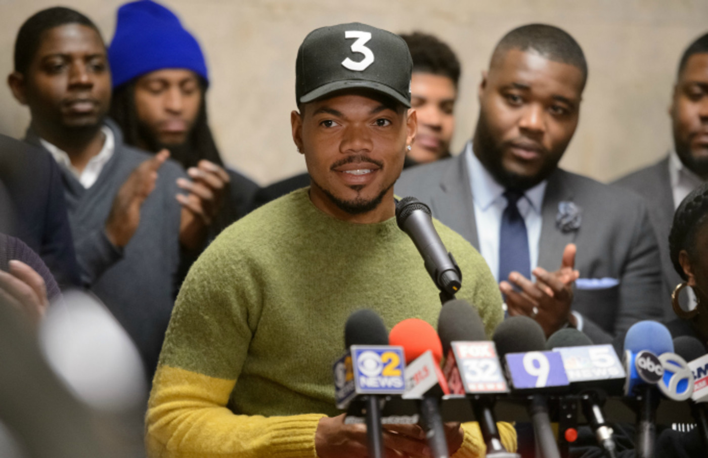 Chance the Rapper holds a press conference