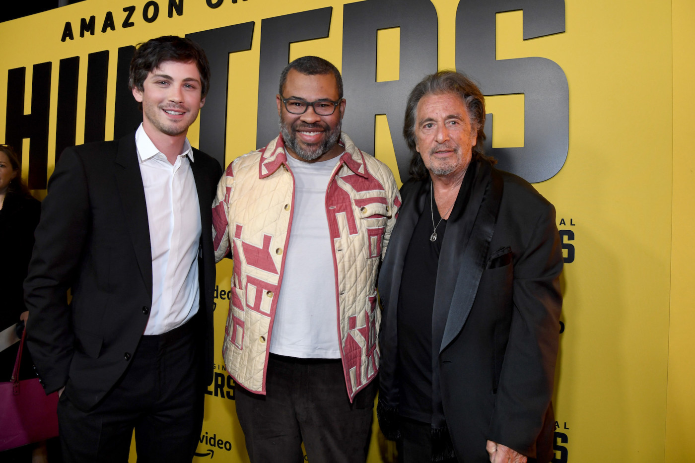 "Logan Lerman, Jordan Peele and Al Pacino attend World Premiere of ""Hunters."""