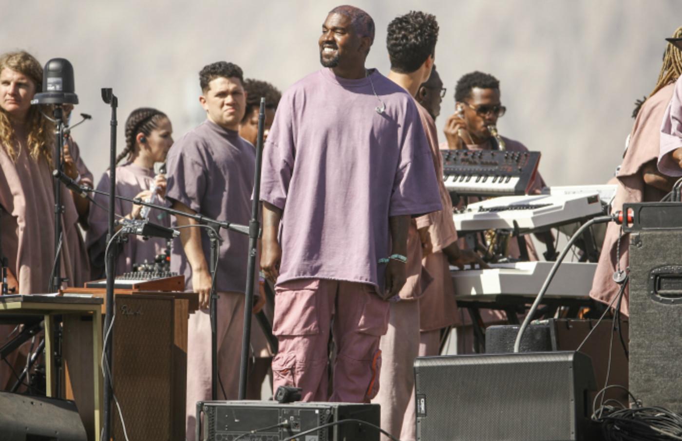 Kanye West performs Sunday Service