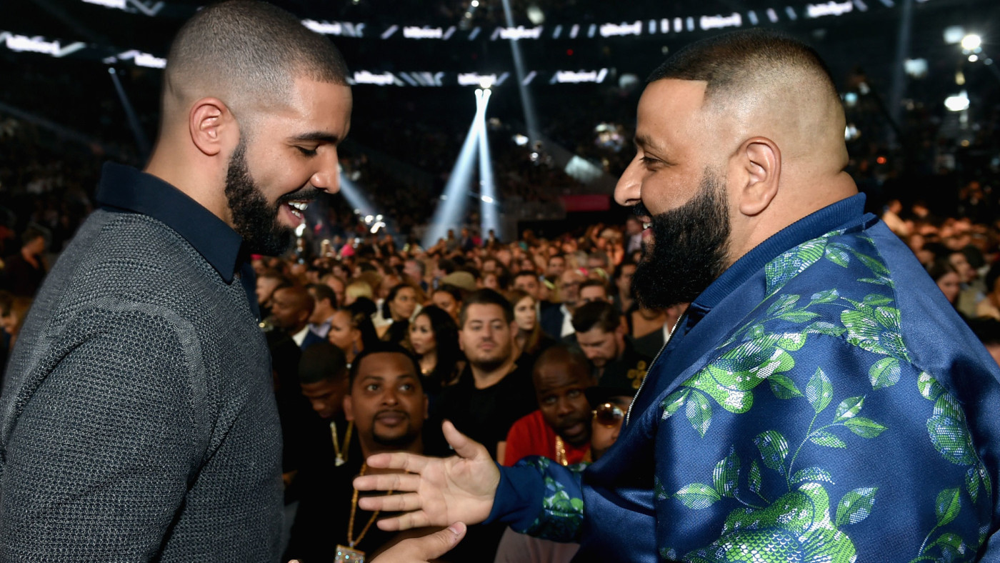 Drake and DJ Khaled attend the 2017 Billboard Music Awards.