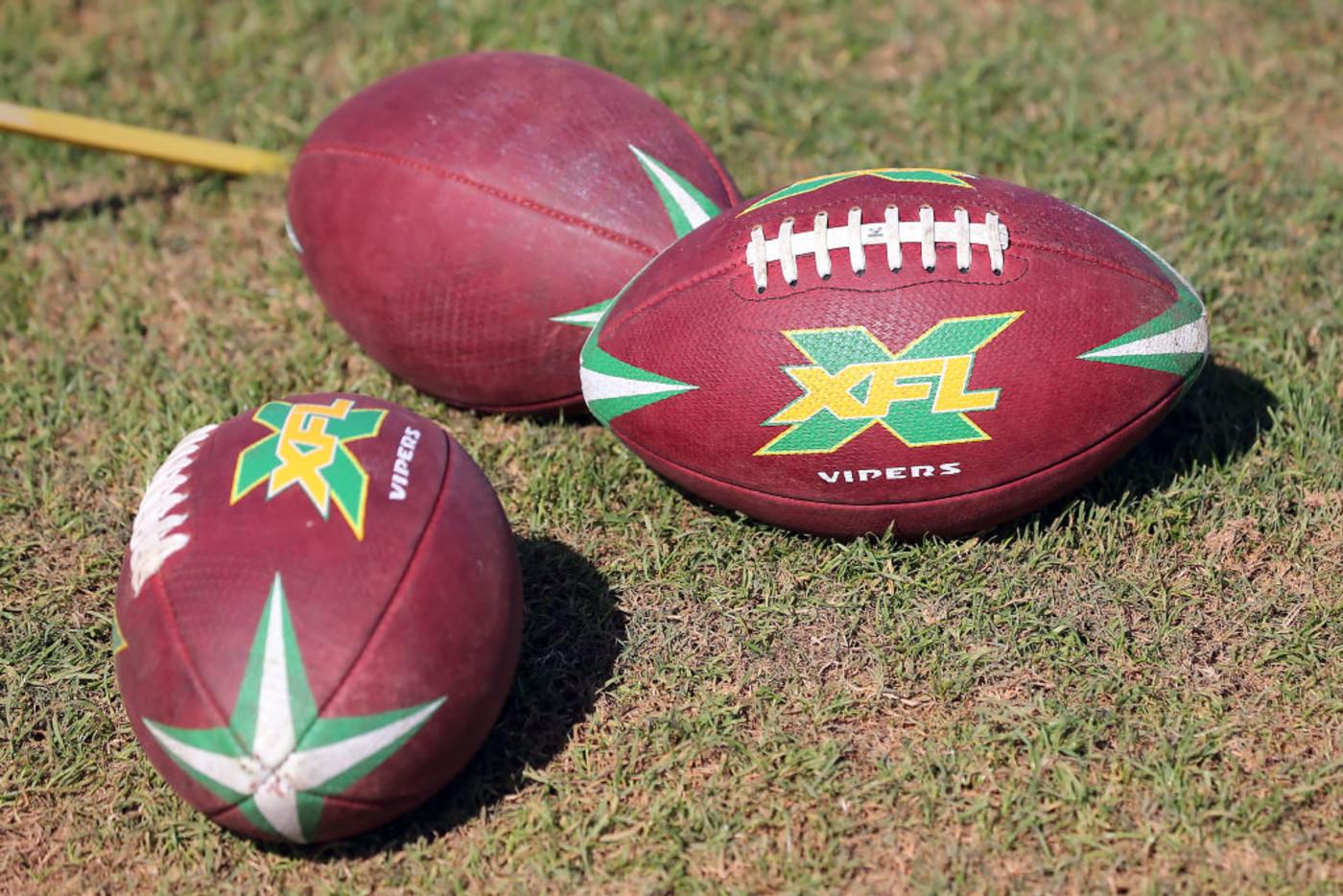 XFL Footballs Getty 2019