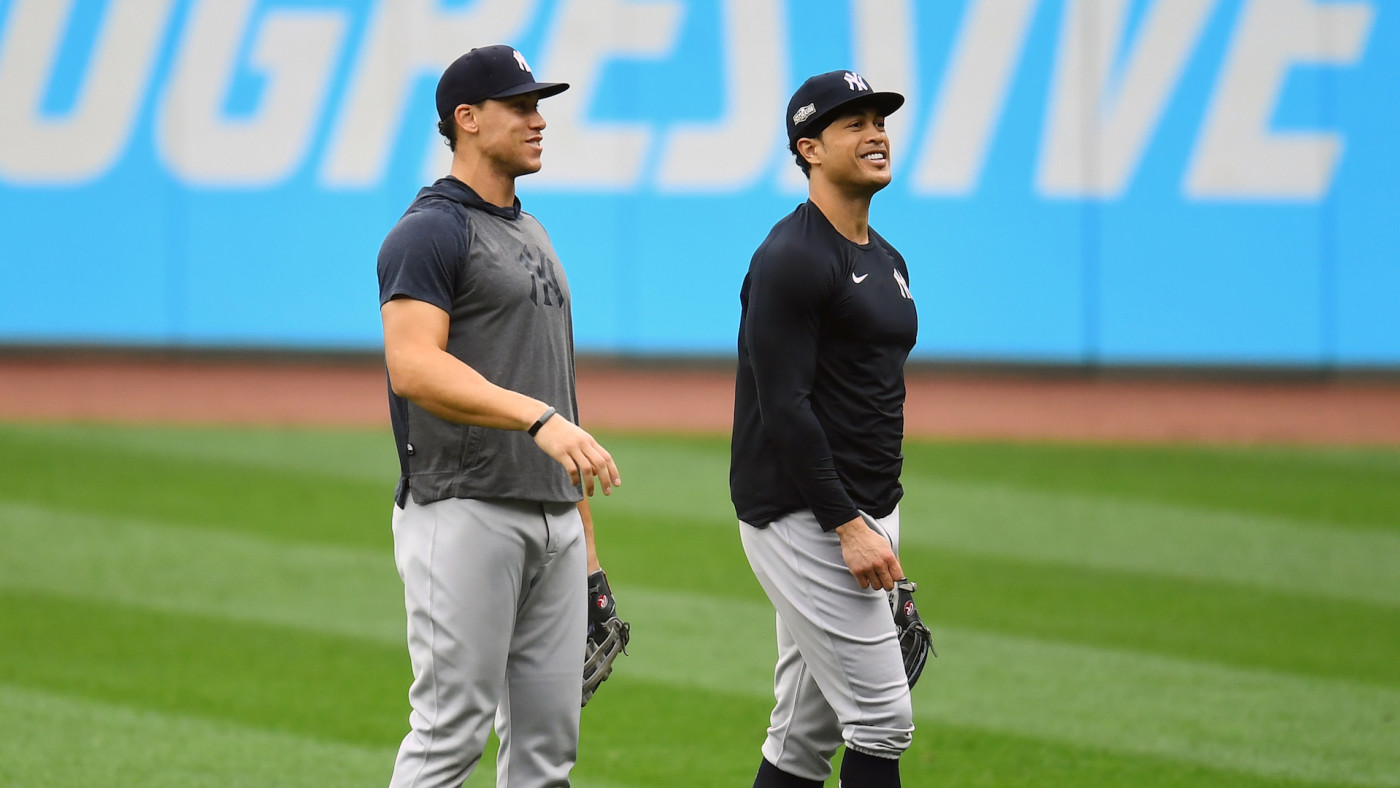 New York Yankees teammates Aaron Judge and Giancarlo Stanton