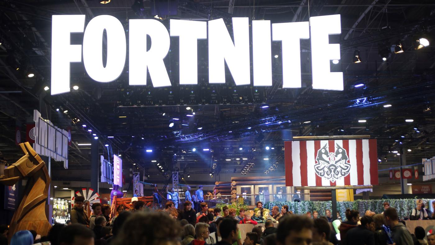 Fortnite booth at 'Paris Games Week'