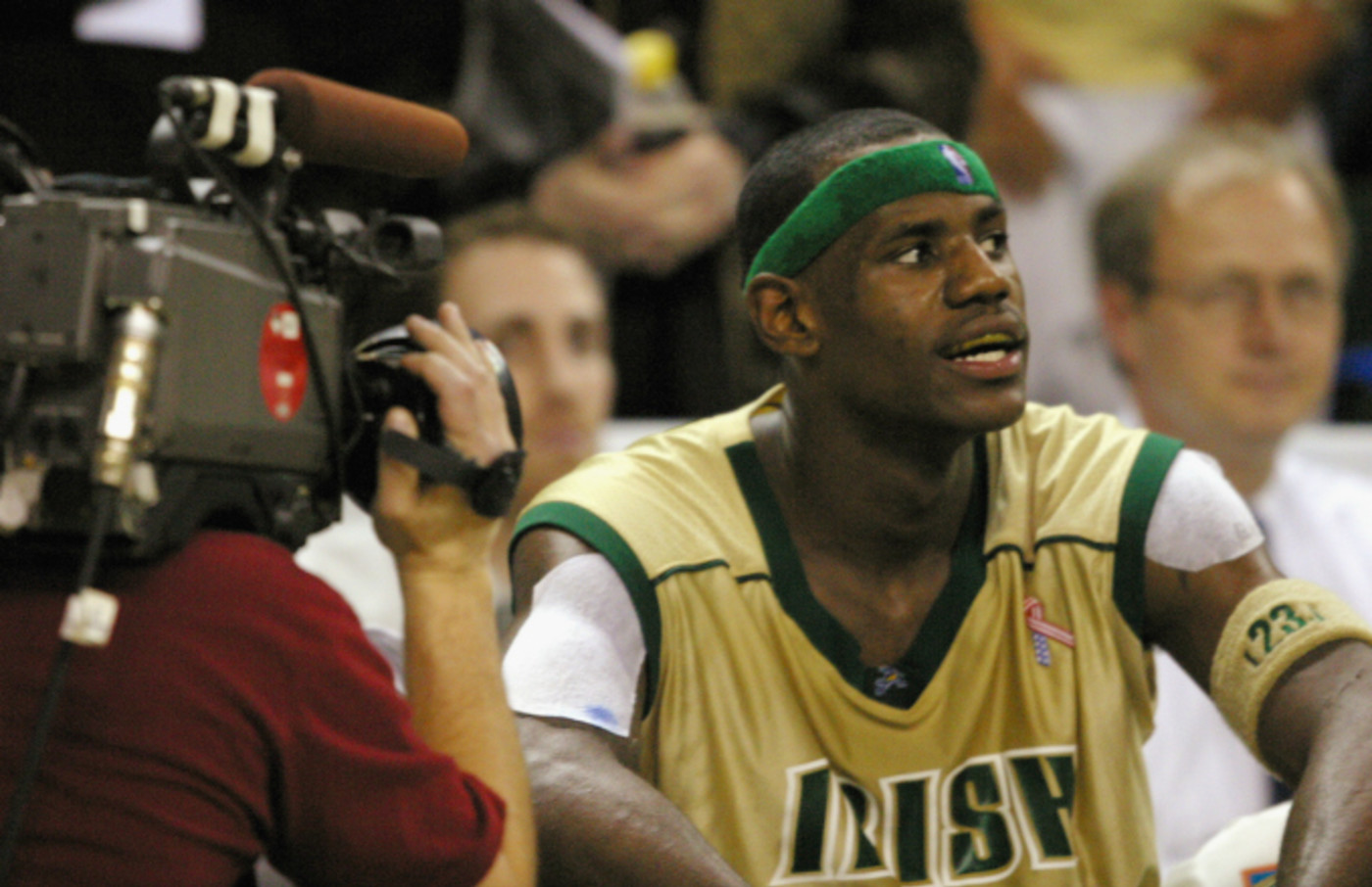 LeBron James #23 of St. Vincent-St. Mary High School