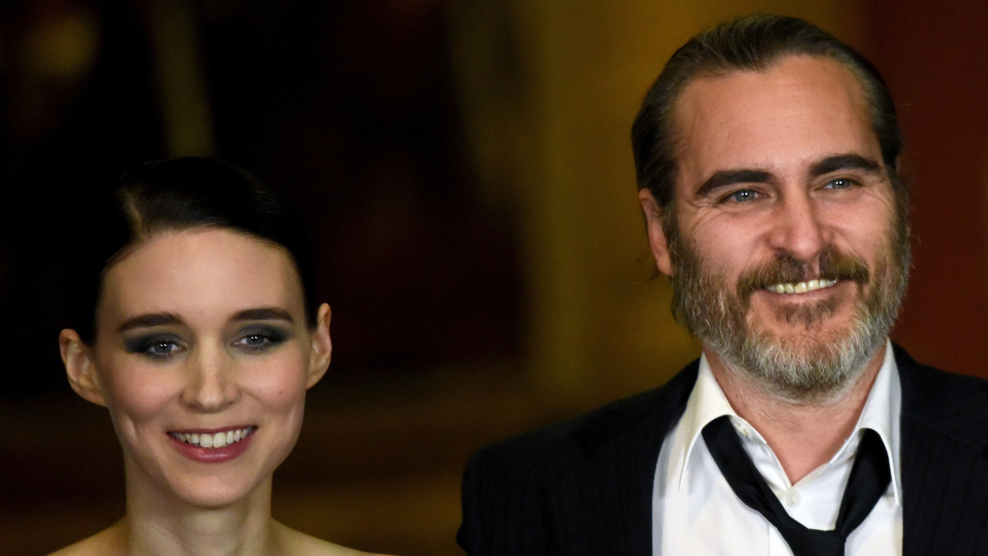 Rooney Mara and Joaquin Phoenix attend the 'Mary Magdalene' special screening.