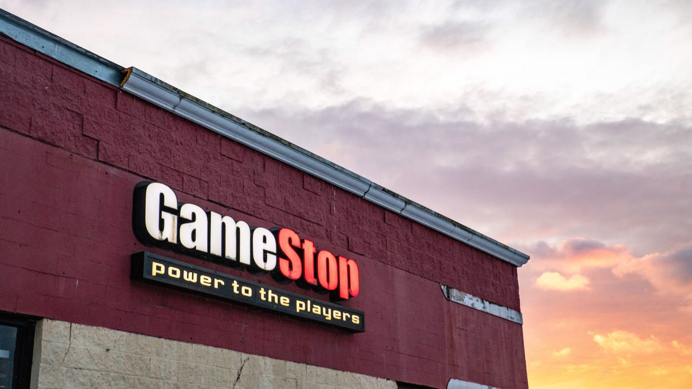 GameStop logo is seen at one of their stores in Athens, Ohio.