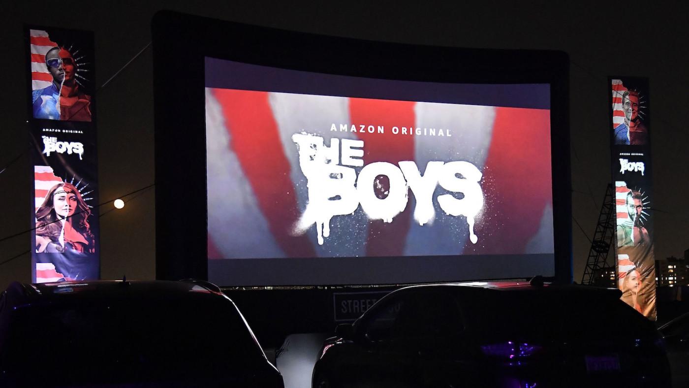 "Screen during Amazon Prime Video's ""The Boys"" Season 2 Drive-In Premiere."