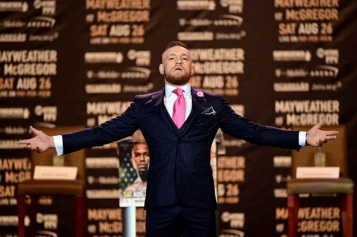 Conor McGregor on tour promoting Floyd Mayweather fight