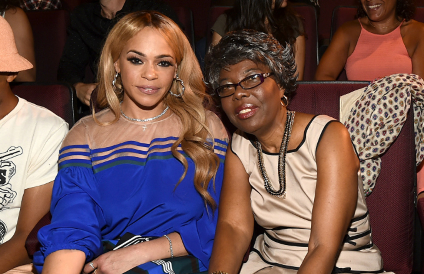 Voletta Wallace and Faith Evans attend the screening