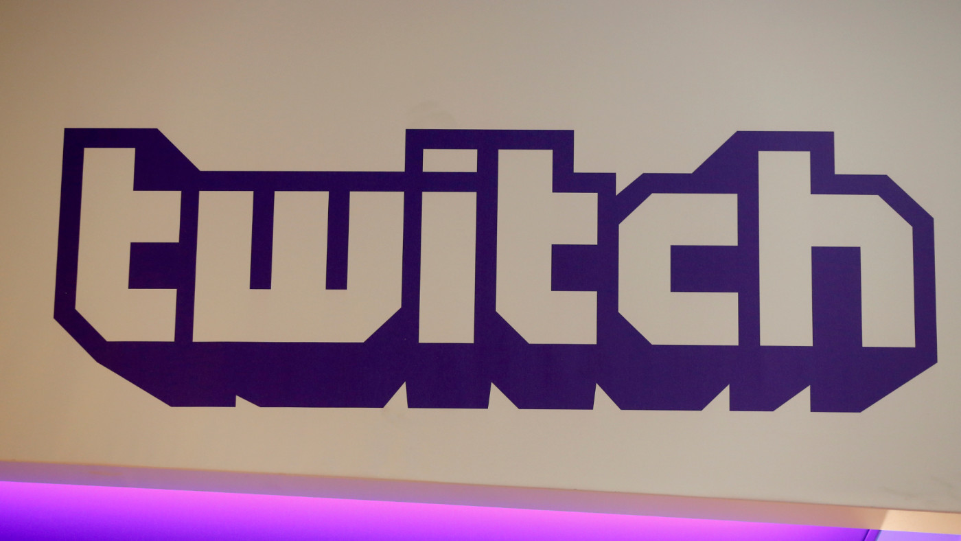 Twitch logo is displayed during the 'Paris Games Week.'