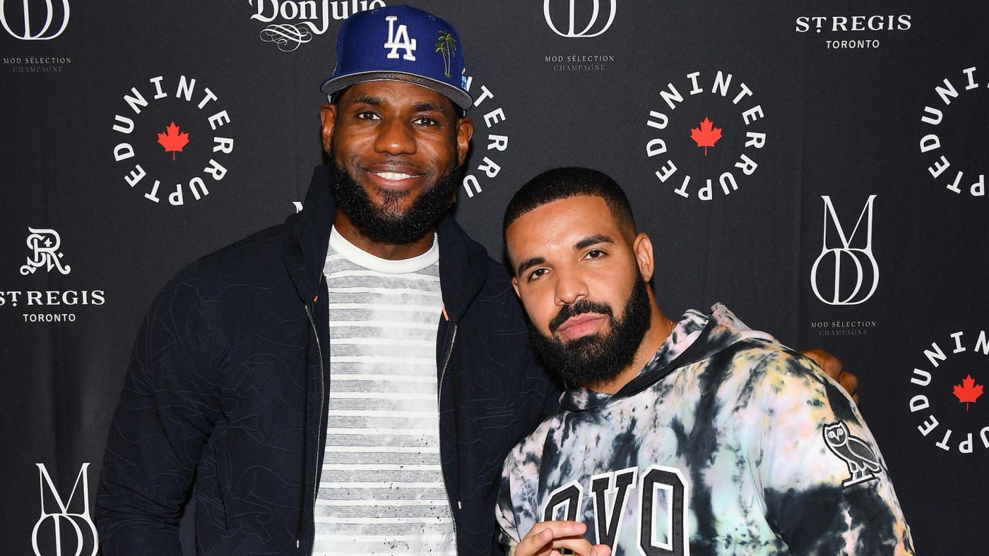 NBA Player Lebron James and Rapper Drake