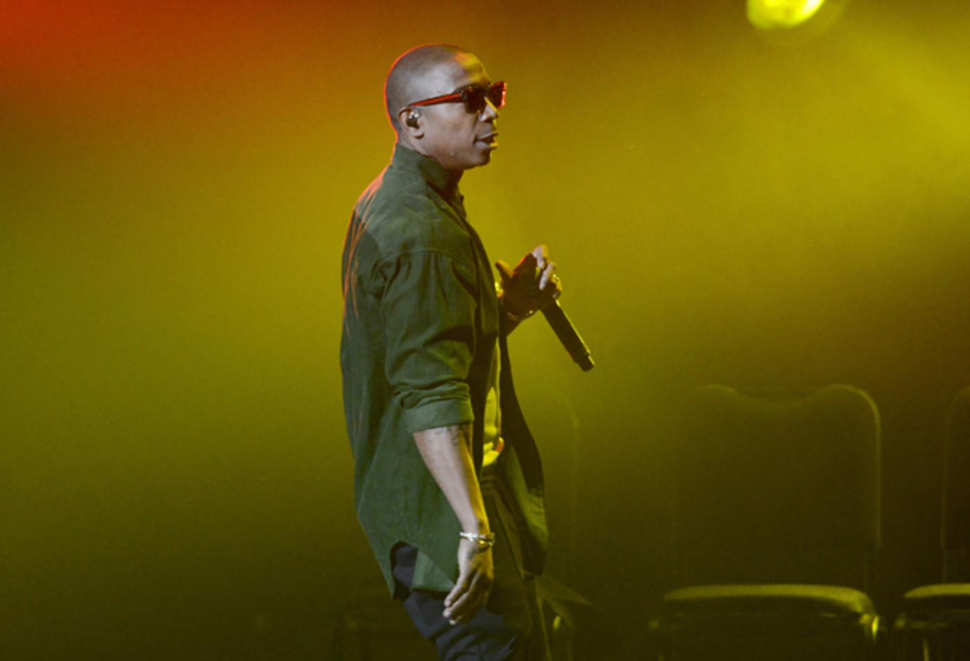 Ja Rule performs onstage during the Pain is Love tour