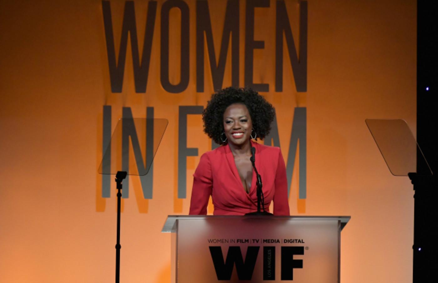 Viola Davis speaks onstage at the 2019 Women In Film Annual Gala