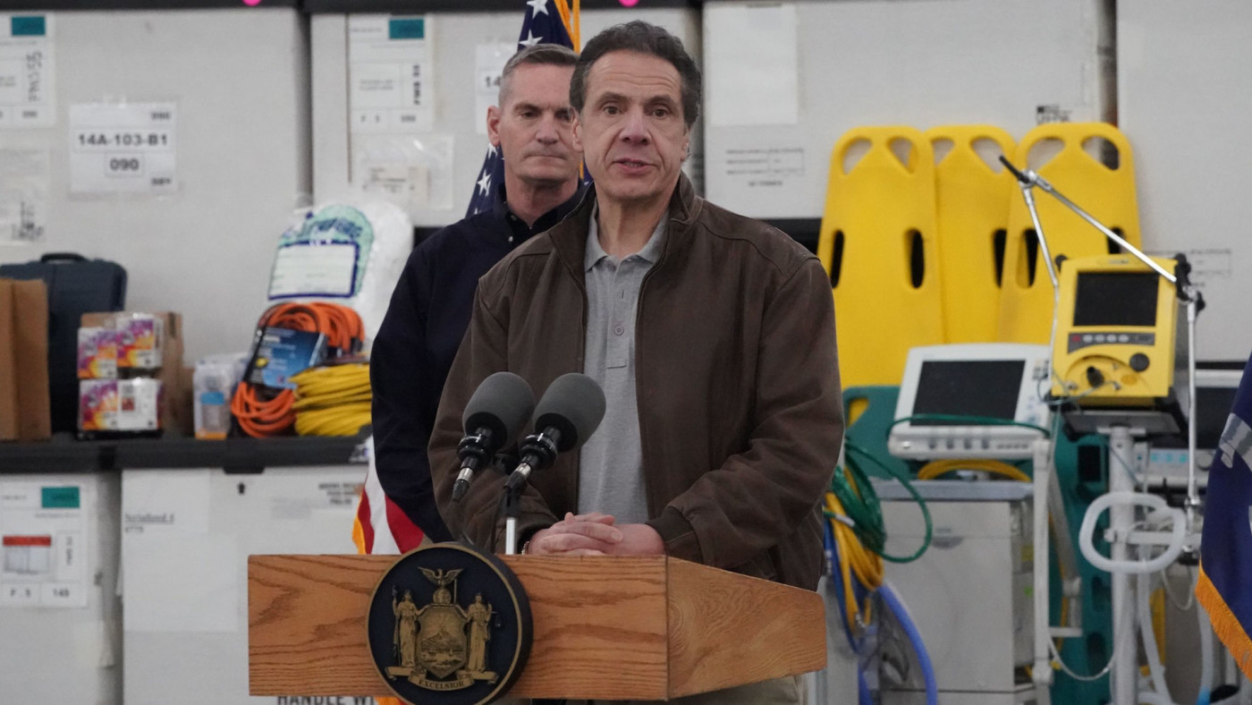 Andrew Cuomo announces plans to convert the Jacob Javits Center into a field hospital.