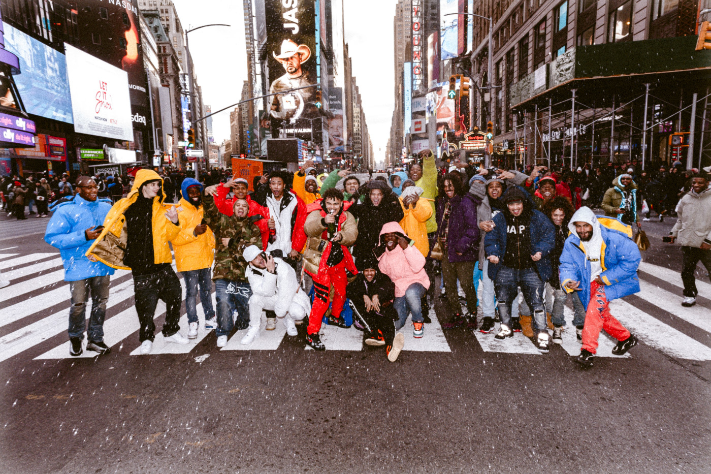 Complex at Marmot Mammoth Parka Biggie Day in Times Square
