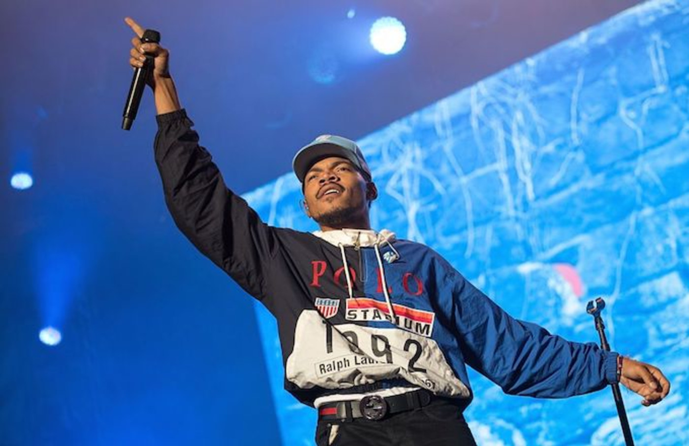 Chance the Rapper performing.